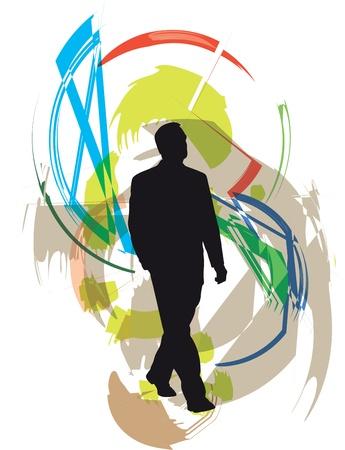 Businessman vector illustration Stock Vector - 11000901
