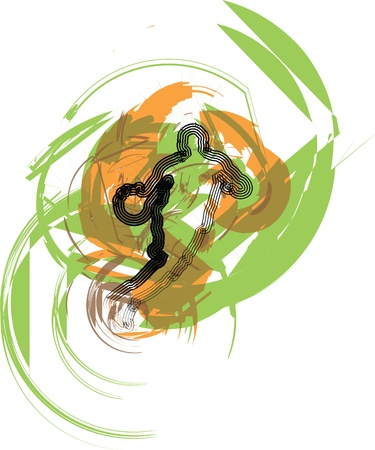 Basketball player. Vector illustration Vector