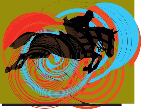 Abstract horses silhouettes. Vector illustration Vector