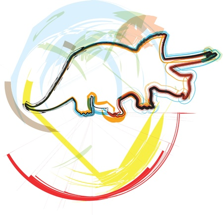Dinosaur illustration Stock Vector - 11001298