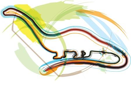 Dinosaur illustration Vector