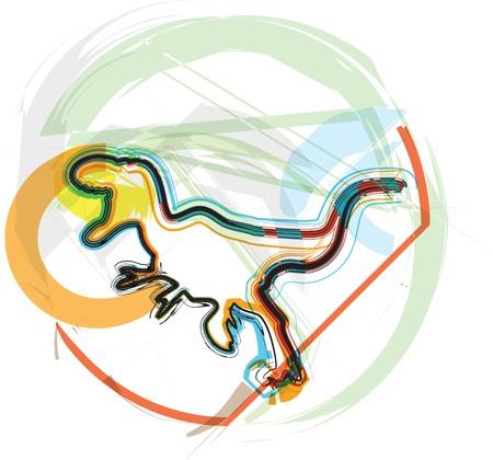 Dinosaur illustration Stock Vector - 11001189