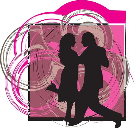 Couple dancing Vector