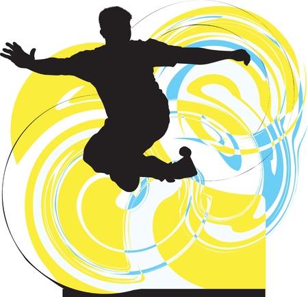 parkour: Breakdancer ilustraci�n Vectores
