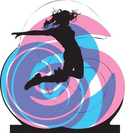 acrobacia: Mujer Ilustraci�n