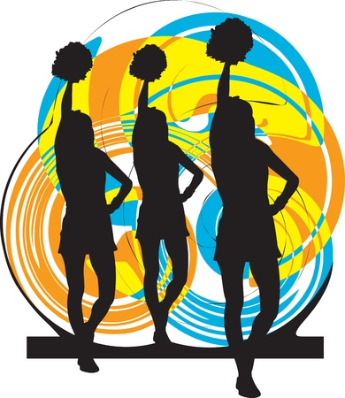 Cheerleaders illustration Illustration