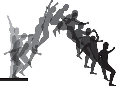 fearless: Man jumping