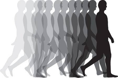 Hombre caminando Ilustración de vector