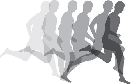 aktywność fizyczna: CzÅ'owiek dziaÅ'a Ilustracja