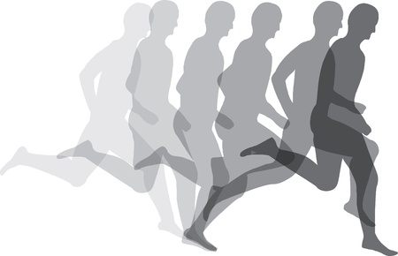 physical fitness: Man running Illustration