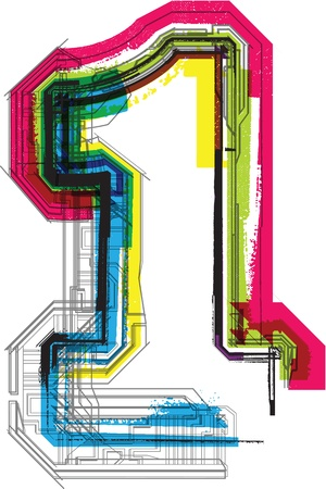 typography: Technical typography Illustration