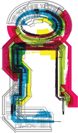 cmyk abstract: Technical typography Illustration