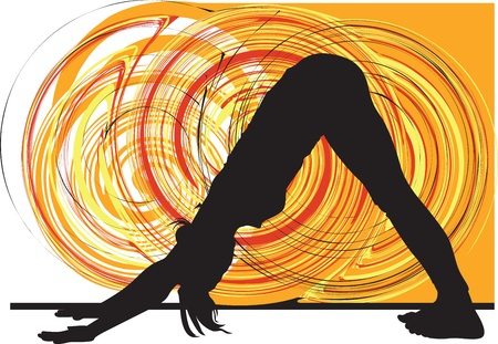 women yoga: Yoga illustration