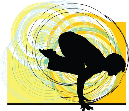 yoga position: Yoga illustration