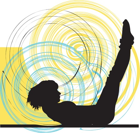 physical training: Yoga illustration
