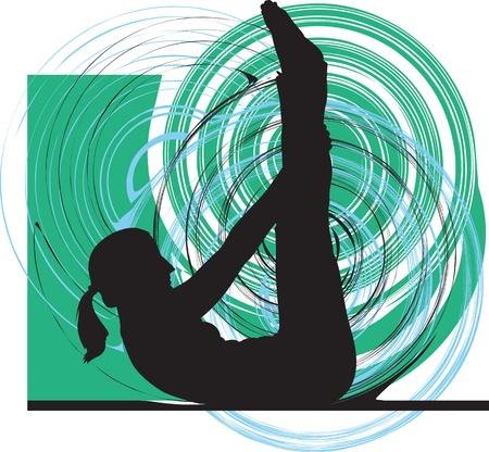 Yoga illustration Stock Vector - 11062357
