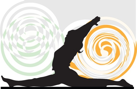 Illustration de yoga
