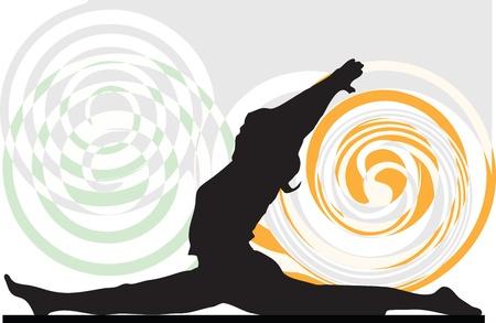 serene people: Yoga illustration
