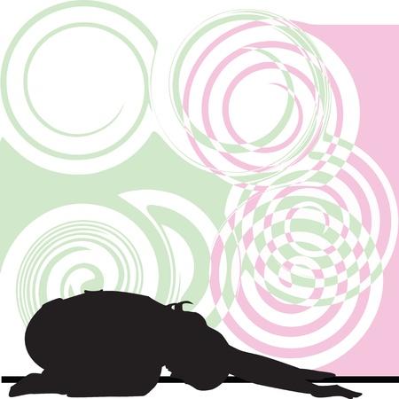 Yoga illustration Stock Vector - 11062337