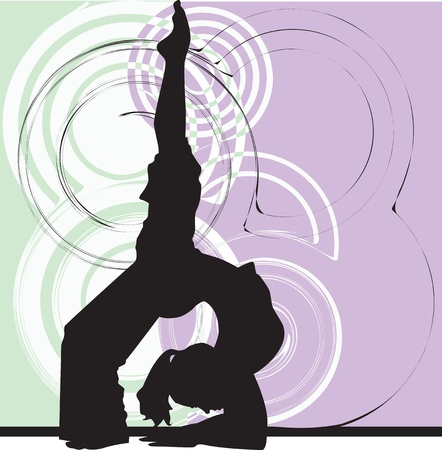 workout gym: Yoga illustration