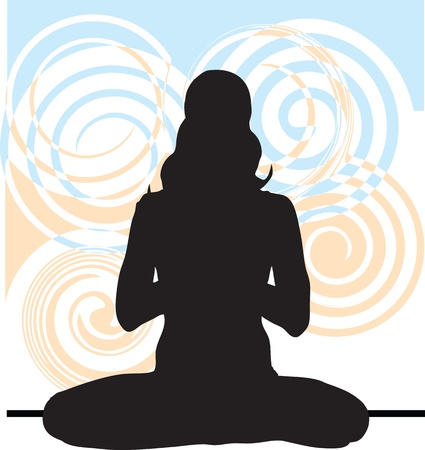 calm woman: Yoga illustration