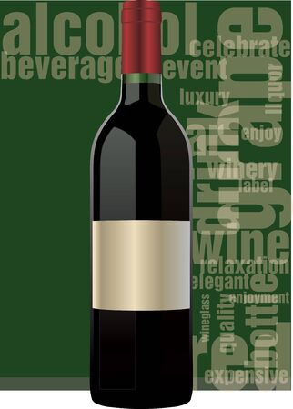 Red wine bottle Stock Vector - 11062450