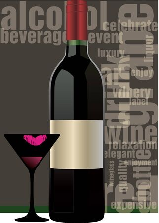 red wine bottle: Botella de vino tinto