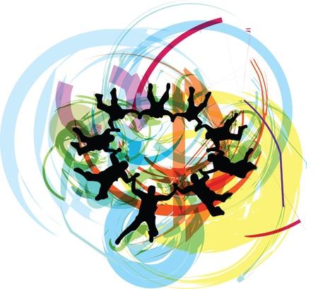adrenalina: Paracaidismo ilustraci�n