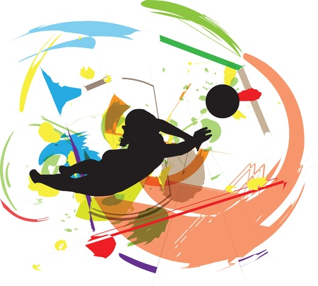 Volleyball illustration Vector