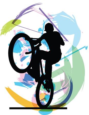 biker illustratie Vector Illustratie