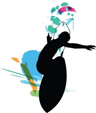 Surfer illustration Vector