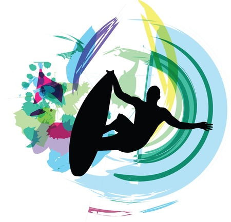 Illustration Surfer