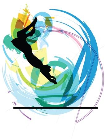 piscina olimpica: salto de la ilustraci�n