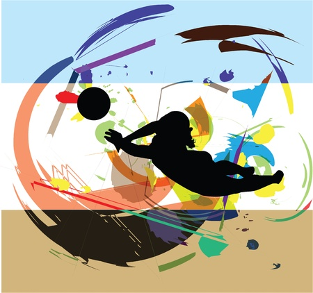 voleibol: Ilustraci�n de voleibol