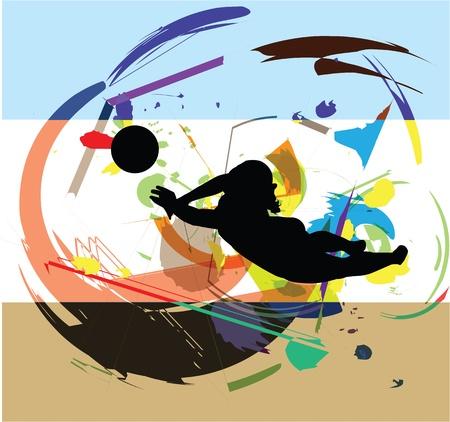 Volley-ball illustration Illustration