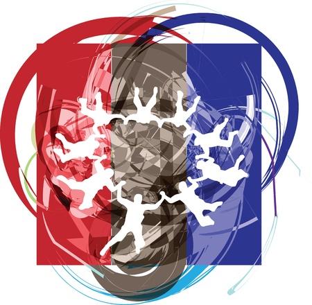 airplay: Skydiving illustration Illustration