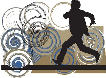 businessman running Vector