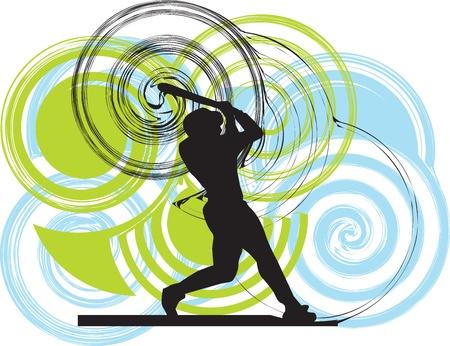 Béisbol ilustración jugador Ilustración de vector