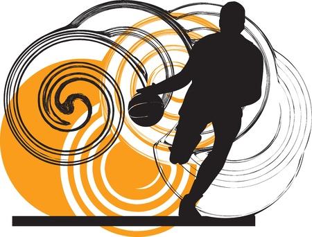 world player: Basketball player illustration