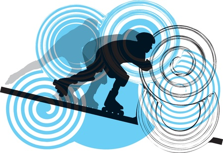 Skater illustration Stock Vector - 11063326