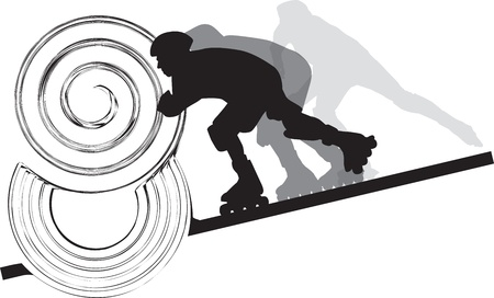 high speed: Skater illustration Illustration