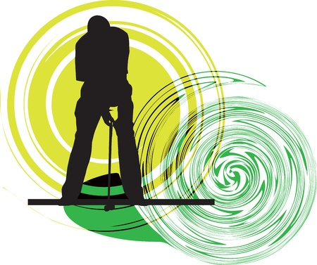 golf player: Golfer illustration Illustration