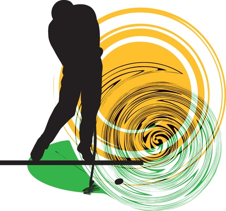 golfing: Golfer illustration Illustration