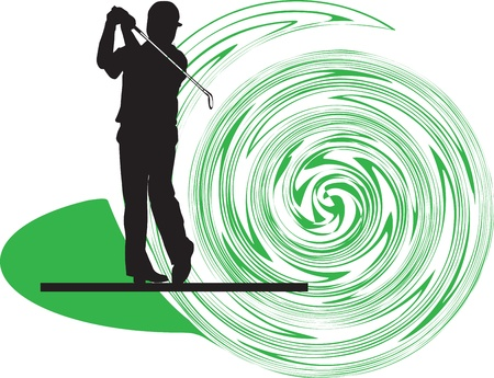 Golfer illustration Vector