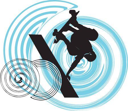 skater illustration Stock Vector - 11062326