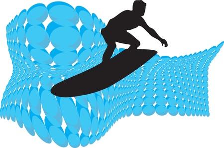 surfer vector: Surfer. Vector illustration