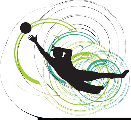 male feet: Football player. Vector illustration