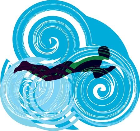 swim boy: Man swimming