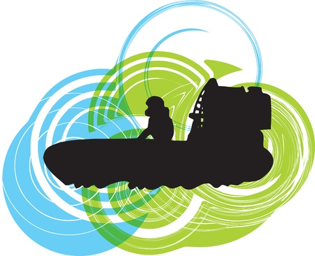 Airboat illustration Vector