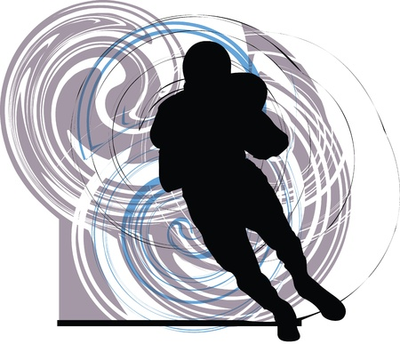 American football player in action Vector